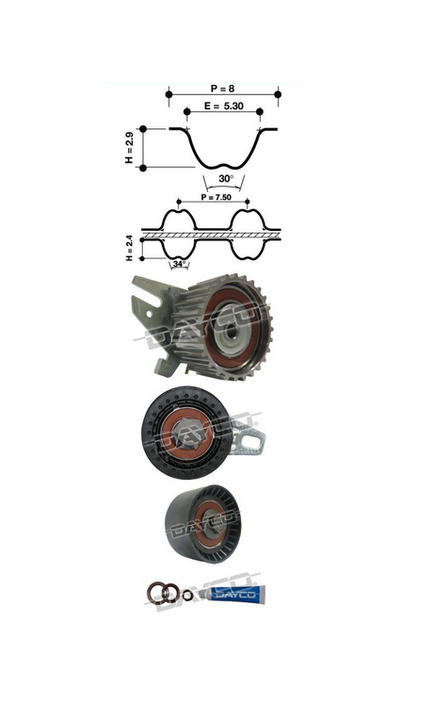 Dayco Timing Belt Kit KTB314E Sparesbox - Image 11